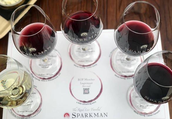 Sparkman Cellars wine tasting flight